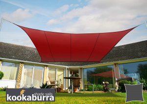 Catálogo para comprar Toldos Kookaburra Carmín Cuadrado Impermeable – Los preferidos