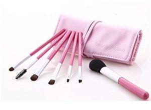 Catálogo para comprar en Internet brochas maquillaje packs principiantes rosa