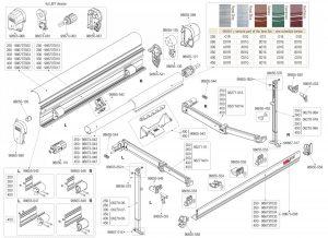 Catálogo de lona 190 bordeaux f45 fiamma para comprar online