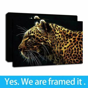 lona estampado leopardo listo colgar que puedes comprar por Internet
