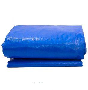 SOVIYAS Lona de alta resistencia Lona reforzada Ojales gruesos 4m x 5m13ft x16ft 4 x 5 m,150g//m/² Lona de PE Lona azul impermeable Hoja de cubierta de calidad superior Lona para acampar al aire libre