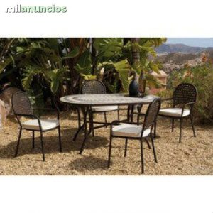 Selección de mesas y sillas de jardin de segunda mano para comprar online