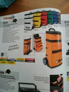 Catálogo para comprar por Internet carro herramientas beta