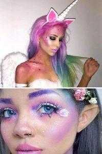 maquillaje unicornio mujer que puedes comprar en Internet