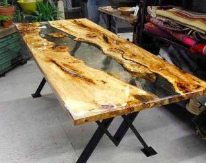 Selección de mesa madera resina para comprar online