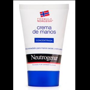 Selección de crema de manos en la cara para comprar
