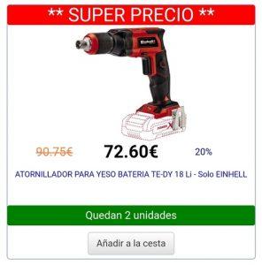 atornilladores de bateria para pladur disponibles para comprar online – Los Treinta mejores