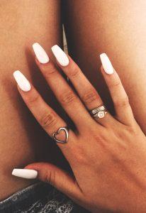 Recopilación de uñas gel blancas para comprar On-line