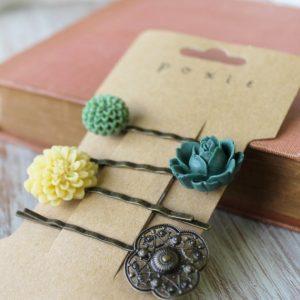 Catálogo para comprar online horquillas flores para pelo novia – Los mejores