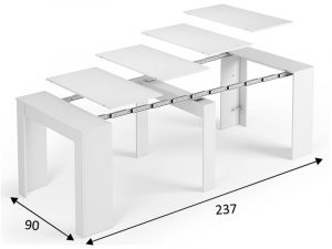 Listado de mesa extensible blanca para comprar