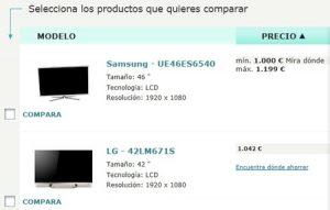Catálogo de ocu comparador para comprar online