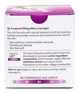 Catálogo de crema de dia reafirmante lavera para comprar online