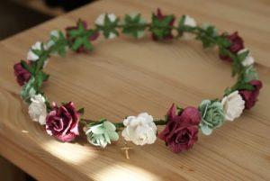 Selección de cintas con flores para el cabello para comprar On-line