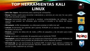 Catálogo de herramientas kali linux para comprar online
