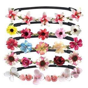 La mejor selección de diademas de flores para el pelo para comprar On-line – El TOP Treinta